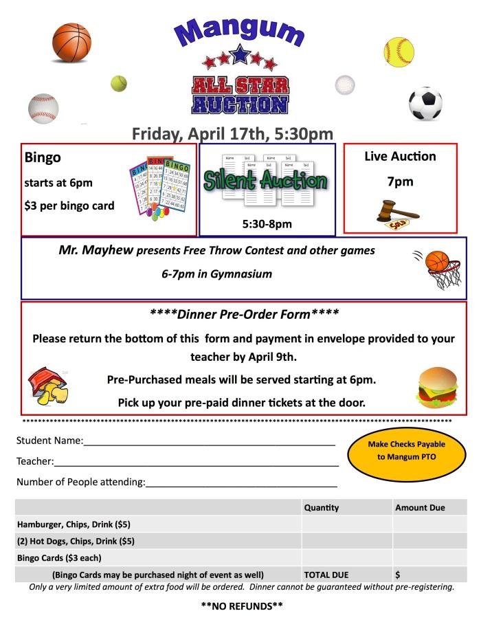 mangum allstar auction flyer
