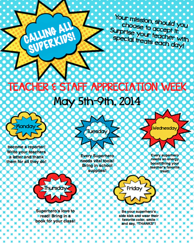 Teacher Appreciation Week 2014 | Mangum PTO
