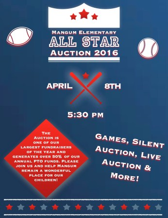 all star auction flyer