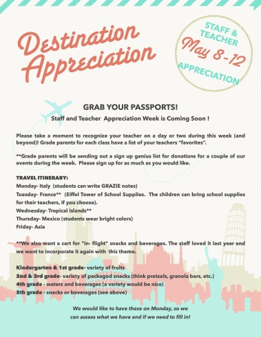 Teacher Appreciation 2017