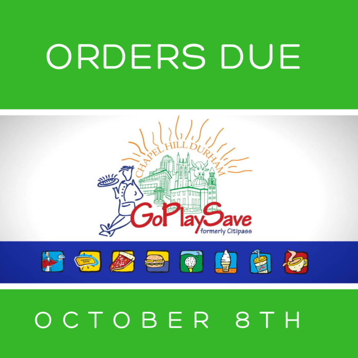 Orders Due October 8th